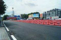 Shenzhen, China: Tráfico de las aduanas de Nantou Imágenes de archivo libres de regalías