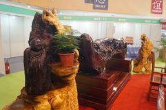 Shenzhen, China: Traditional Culture Festival Woodcarving Exhibition Sales Stock Photography