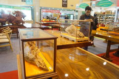 Shenzhen, China: Traditional Culture Festival Woodcarving Exhibition Sales Royalty Free Stock Photography