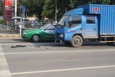 Shenzhen, China: traffic accident Stock Photos