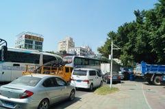 Shenzhen, China: traffic accident caused traffic jams Stock Photo