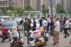 Shenzhen, China: traffic accident treatment Stock Photography