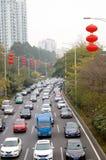 Shenzhen, China: traffic congestion Royalty Free Stock Images