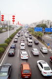 Shenzhen, China: traffic congestion Royalty Free Stock Photography