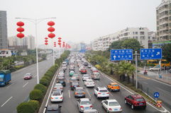 Shenzhen, China: traffic congestion Stock Photography