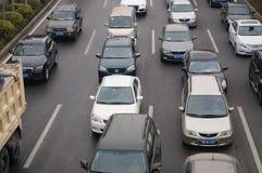 Shenzhen, China: traffic congestion Royalty Free Stock Photos