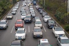 Shenzhen, China: traffic congestion Royalty Free Stock Image