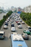 Shenzhen, China: traffic congestion Royalty Free Stock Image