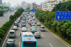 Shenzhen, China: traffic congestion Royalty Free Stock Photography