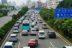 Shenzhen, China: traffic congestion Royalty Free Stock Photos