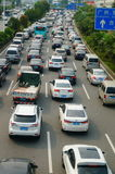 Shenzhen, China: traffic congestion Stock Photography