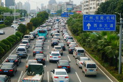 Shenzhen, China: traffic congestion Stock Photos