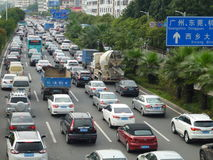 Shenzhen, China: traffic congestion Royalty Free Stock Images