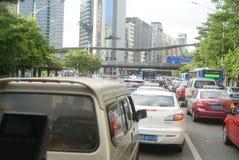Shenzhen, China: traffic jam Royalty Free Stock Image