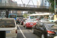 Shenzhen, China: traffic jam Royalty Free Stock Photos