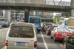 Shenzhen, China: traffic jam Stock Photos
