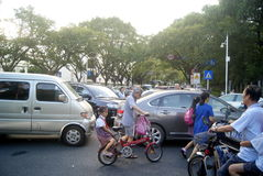 Shenzhen, China: traffic jam Royalty Free Stock Photo