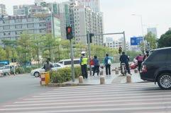 Shenzhen, China: traffic landscape Stock Image