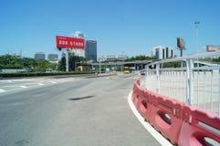Shenzhen, China: traffic landscape at Nantou frontier inspection station Stock Image