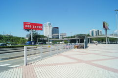 Shenzhen, China: traffic landscape at Nantou frontier inspection station Royalty Free Stock Photography