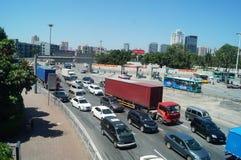 Shenzhen, China: traffic landscape at Nantou frontier inspection station Stock Images