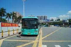 Shenzhen, China: traffic landscape at Nantou frontier inspection station Stock Photography