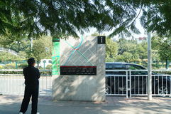 Shenzhen, China: traffic map facilities of Baoan Avenue Royalty Free Stock Photography