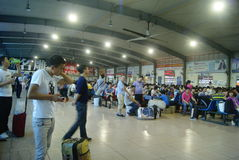 Shenzhen, China: train station waiting room Stock Photos