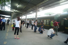 Shenzhen, China: train station waiting room Royalty Free Stock Image
