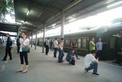 Shenzhen, China: train station waiting room Stock Images