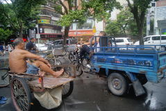 Shenzhen, China: Tricycle waiting for business Royalty Free Stock Image