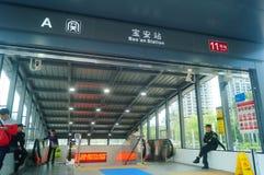 Shenzhen, China: U-Bahn-Linie 11, Baoan-Station Stockbild