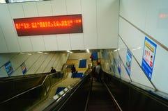 Shenzhen, China: U-Bahn-Linie 11, Baoan-Station Stockbilder