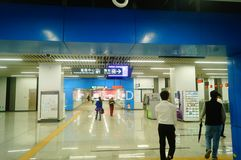 Shenzhen, China: U-Bahn-Linie 11, Baoan-Station Lizenzfreie Stockbilder