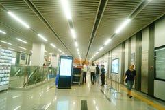 Shenzhen, China: U-Bahn-Linie 11, Baoan-Station Lizenzfreies Stockfoto