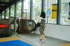 Shenzhen, China: U-Bahn-Linie 11, Baoan-Station Stockfotos