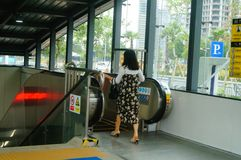 Shenzhen, China: U-Bahn-Linie 11, Baoan-Station Stockfotografie