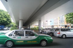 Shenzhen, China: under the viaduct traffic Royalty Free Stock Photos
