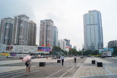 Shenzhen, China: urban construction and traffic landscape. Shenzhen Grand Theatre square and urban construction and traffic landscape Stock Image