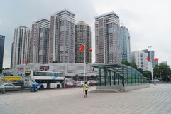 Shenzhen, China: urban construction and traffic landscape. Shenzhen Grand Theatre square and urban construction and traffic landscape Stock Photos