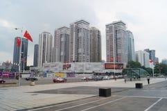 Shenzhen, China: urban construction and traffic landscape. Shenzhen Grand Theatre square and urban construction and traffic landscape Royalty Free Stock Photo