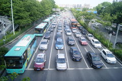Shenzhen, China: the urban road traffic Stock Photography