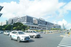 Shenzhen, China: urban roads, traffic and building landscape Royalty Free Stock Photography