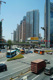 Shenzhen, China: urban traffic landscape Royalty Free Stock Images