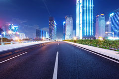 Shenzhen, China. And urban transport in the night Royalty Free Stock Photography