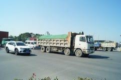Shenzhen, China: verkeerlandschap Stock Afbeeldingen