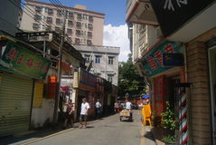 Shenzhen, China: Village in city buildings and road landscape Stock Images