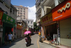 Shenzhen, China: Village in city buildings and road landscape Royalty Free Stock Photo