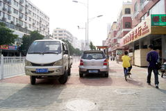 Shenzhen, china: violation of traffic rules and parking Royalty Free Stock Photography