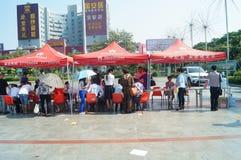 Shenzhen, China: voluntary blood donation activities Royalty Free Stock Photo